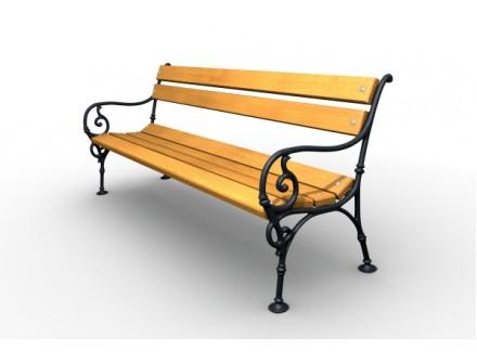 Parková lavička liatinová LL009
