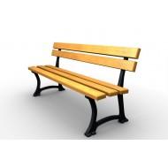 Parková lavička liatinová LL016
