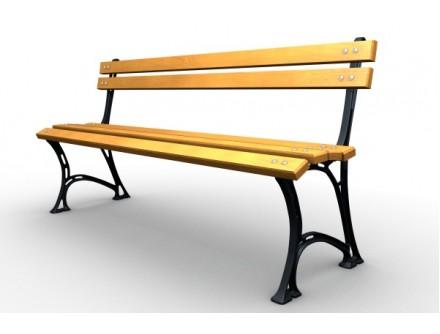 Parková lavička liatinová LL019