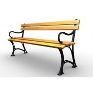 Parková lavička liatinová LL020