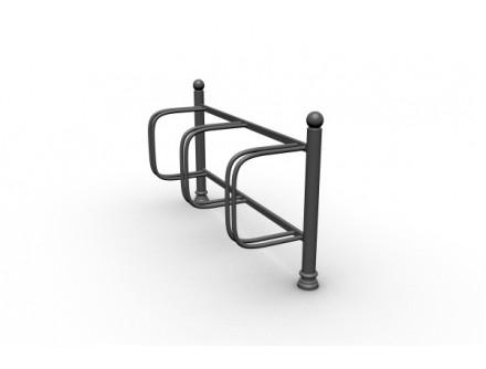 Stojan na bicykle jednostranny, 3 miesta